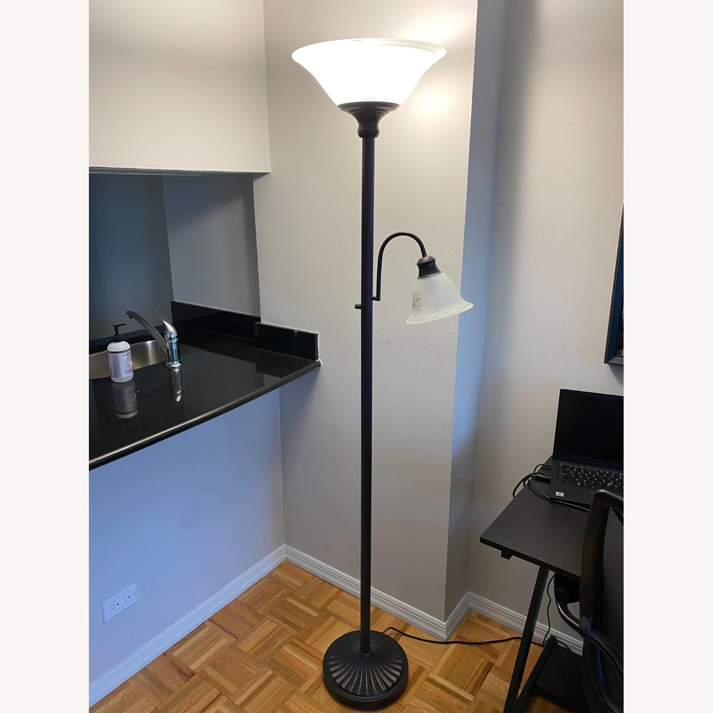 Sleek Floor Lamp with Two Heads - image-1