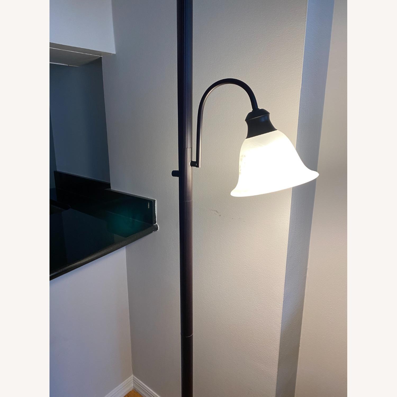 Sleek Floor Lamp with Two Heads - image-2