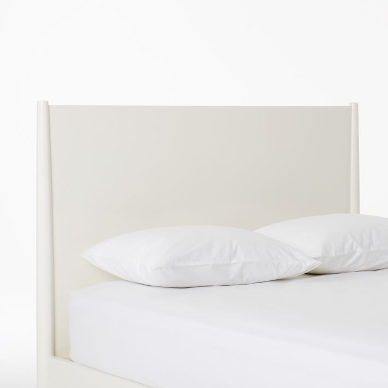 West Elm Mid Century Bed Frame, King, White - image-3