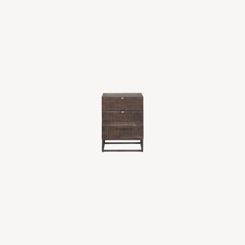 West Elm Mango Wood + Iron Filing Cabinet - image-0