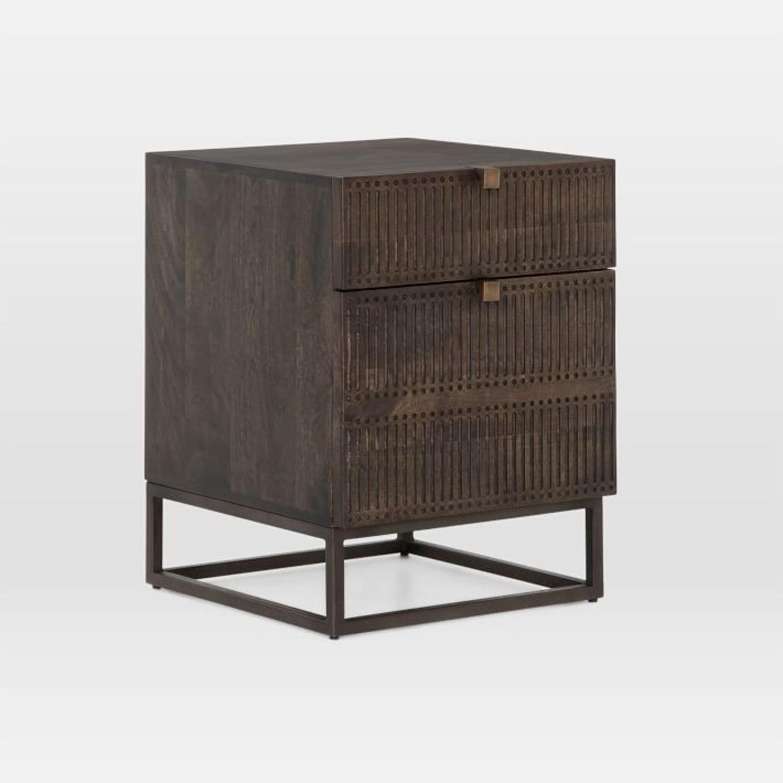 West Elm Mango Wood + Iron Filing Cabinet - image-1