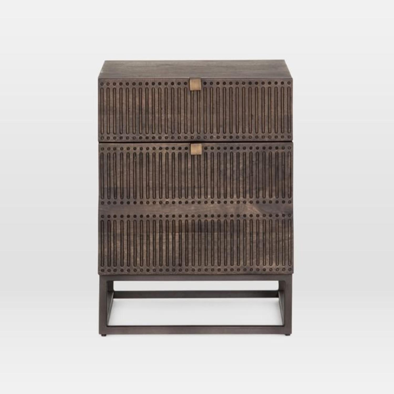 West Elm Mango Wood + Iron Filing Cabinet - image-2