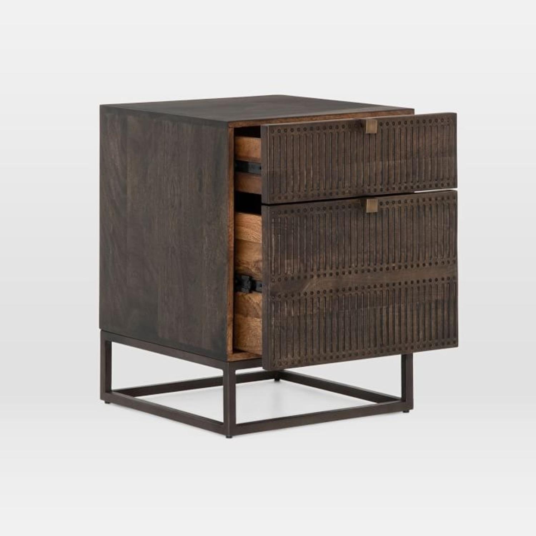 West Elm Mango Wood + Iron Filing Cabinet - image-3