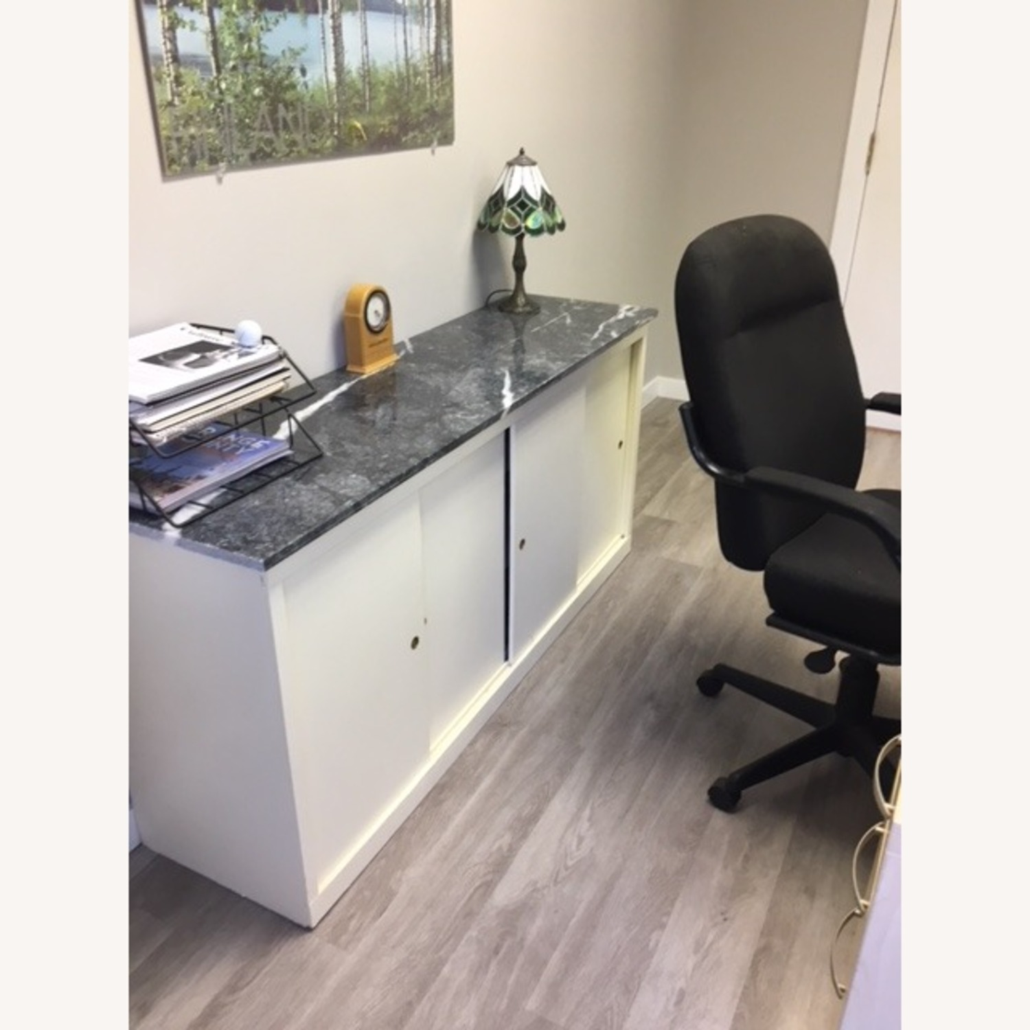 Office Storage Unit with Granite Counter Top - image-2