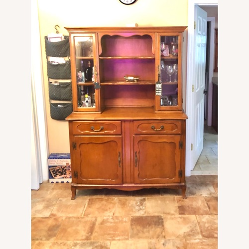 Used American Furniture Classics Antique Carved Wood Armoire for sale on AptDeco