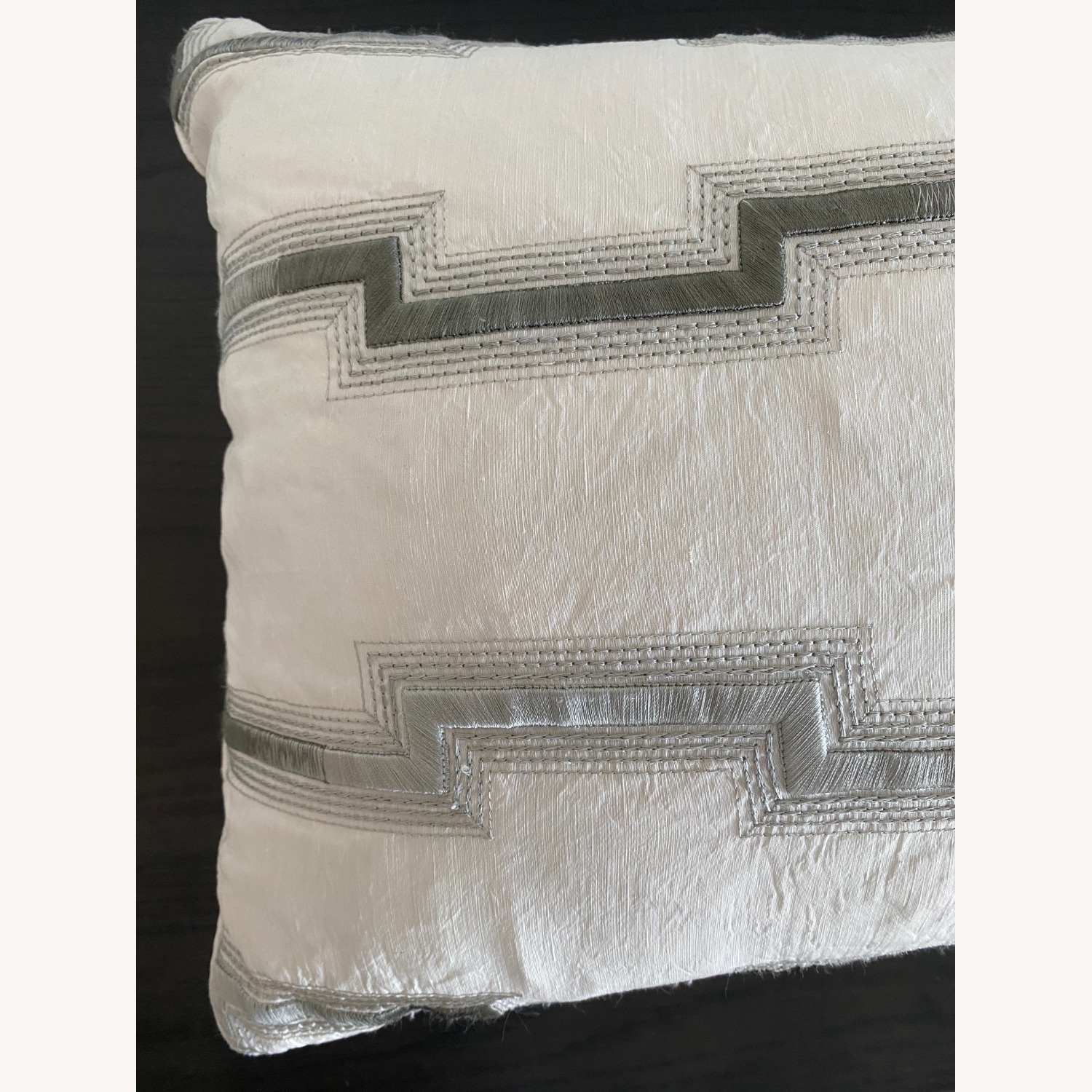 Silk Decorative Bolster with Insert - image-2