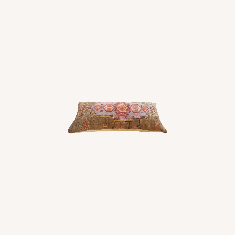 Vintage Inspired Carpet Pillow - image-0