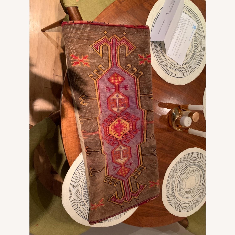 Vintage Inspired Carpet Pillow - image-1