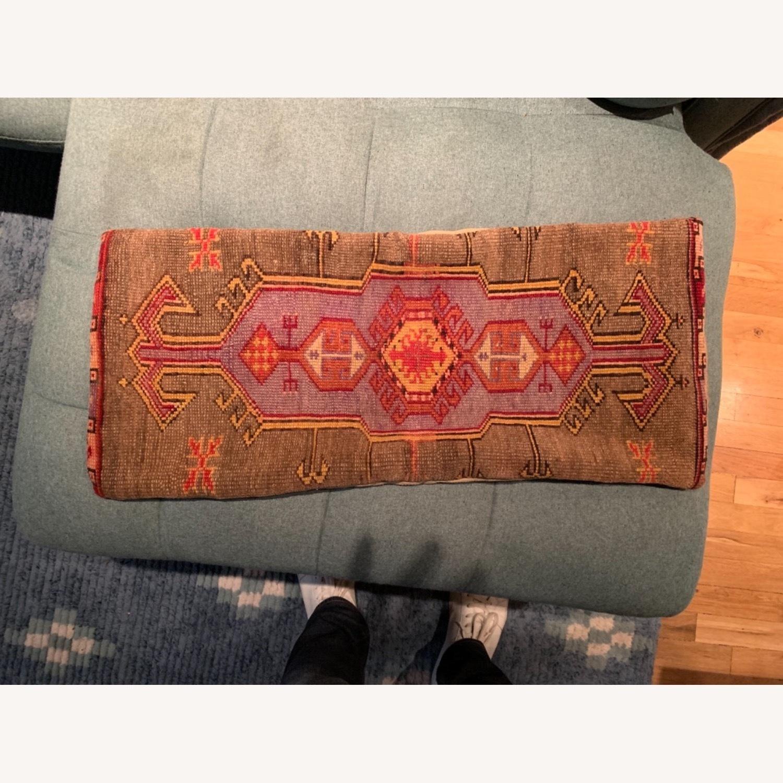 Vintage Inspired Carpet Pillow - image-4