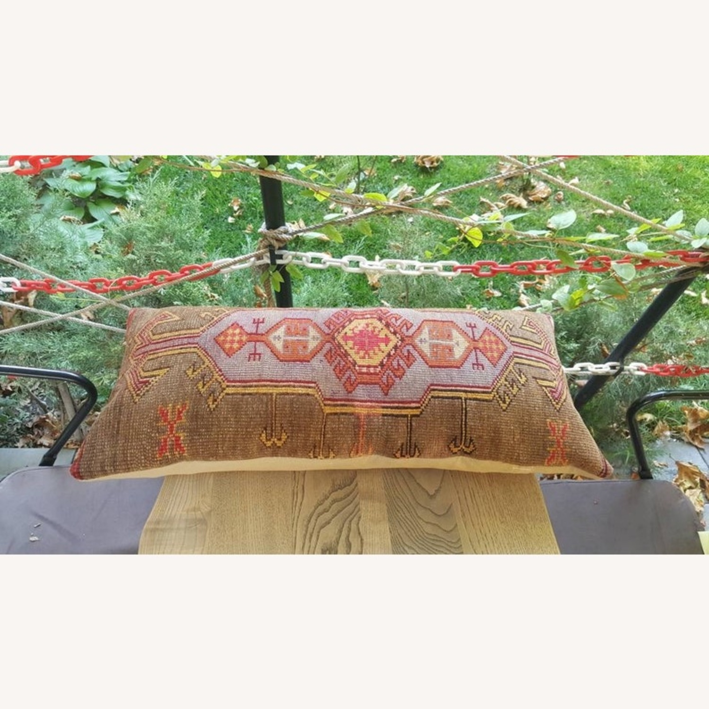 Vintage Inspired Carpet Pillow - image-3