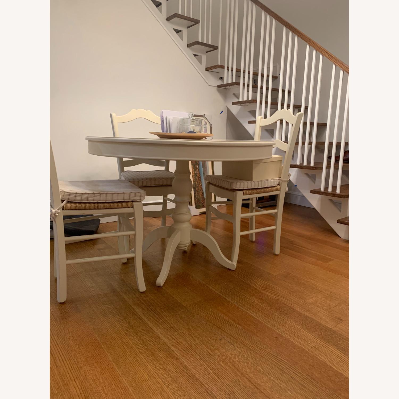 Ballard Designs White Round Dining Table Set Aptdeco