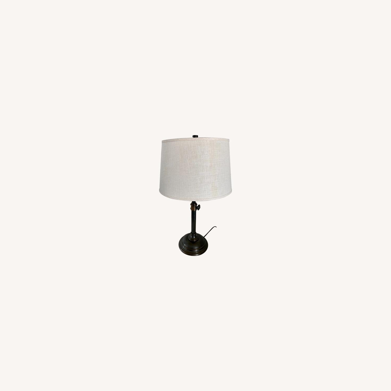 Pottery Barn Chelsea Bronze Table Lamp Set - image-0