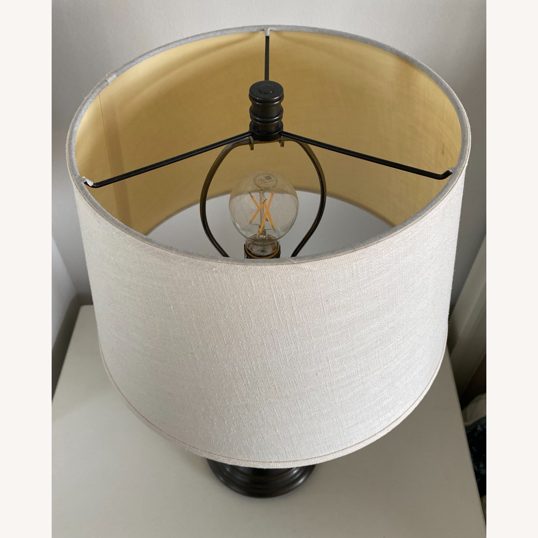 Pottery Barn Chelsea Bronze Table Lamp Set - image-3