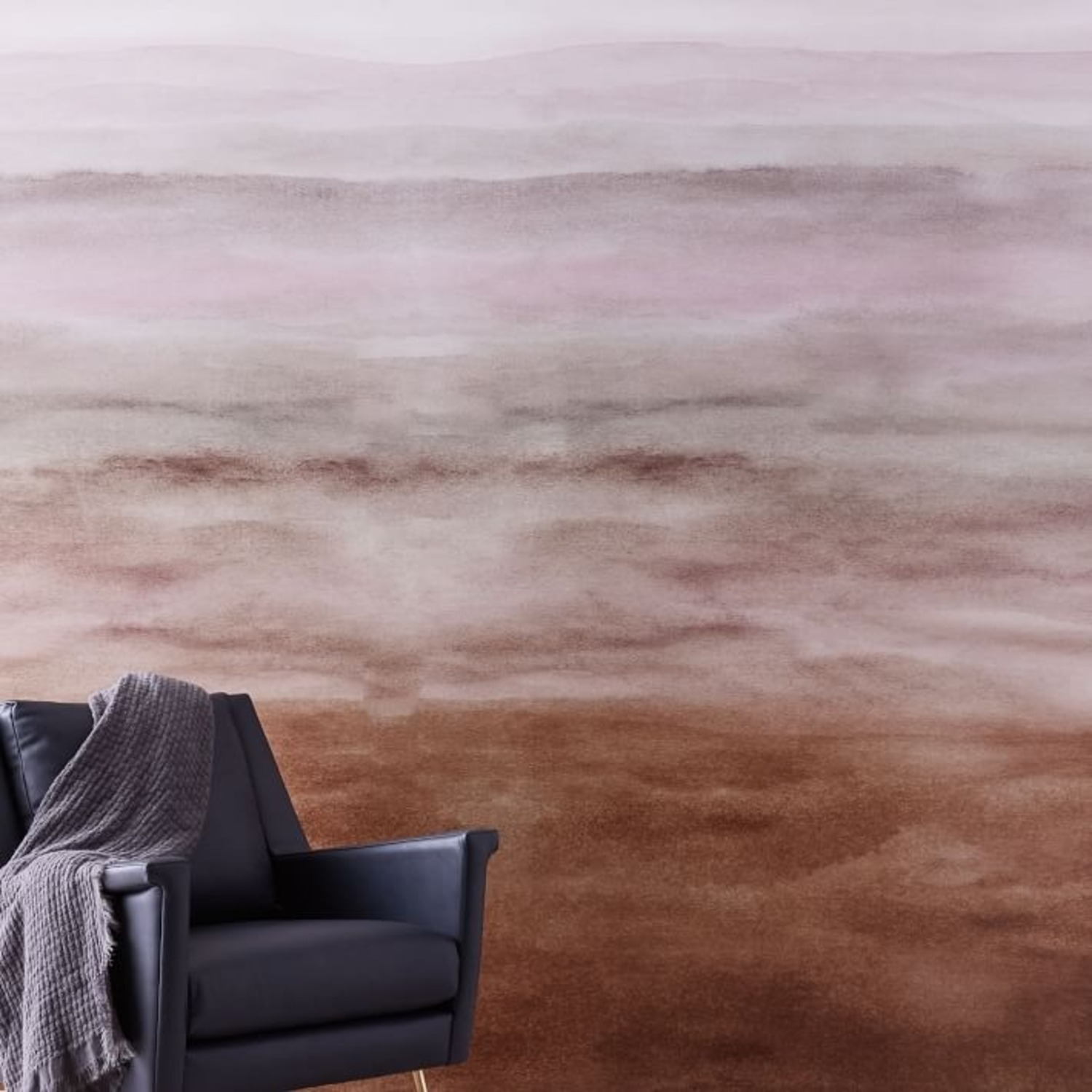 West Elm Washed Ombre Wallpaper, Single Roll - image-1