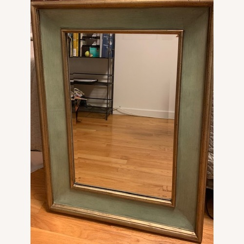 Used Turquoise and Gold Beveled Mirror for sale on AptDeco