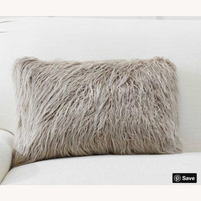 Pottery Barn Faux Mongolian Fur Pillow - image-1