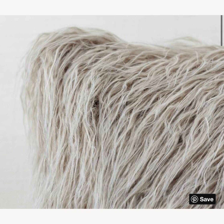 Pottery Barn Faux Mongolian Fur Pillow - image-2