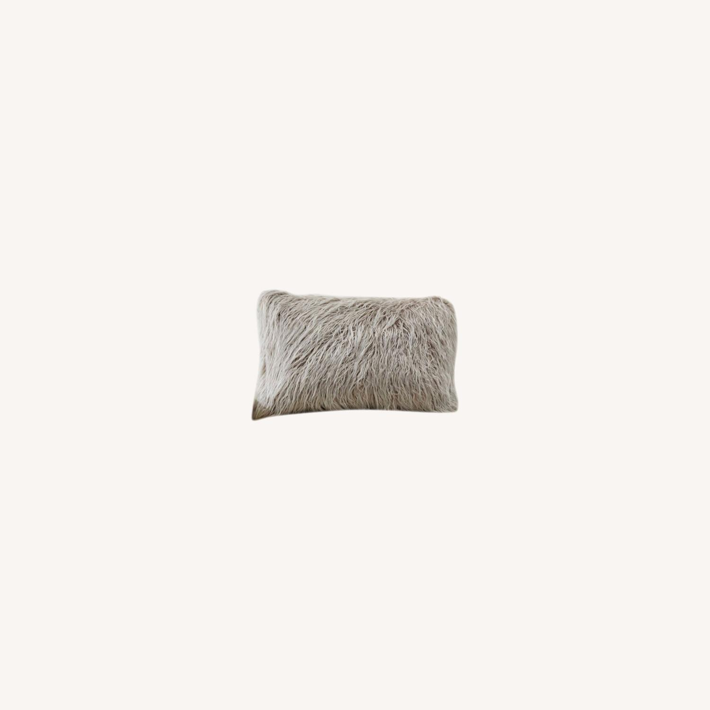 Pottery Barn Faux Mongolian Fur Pillow - image-0