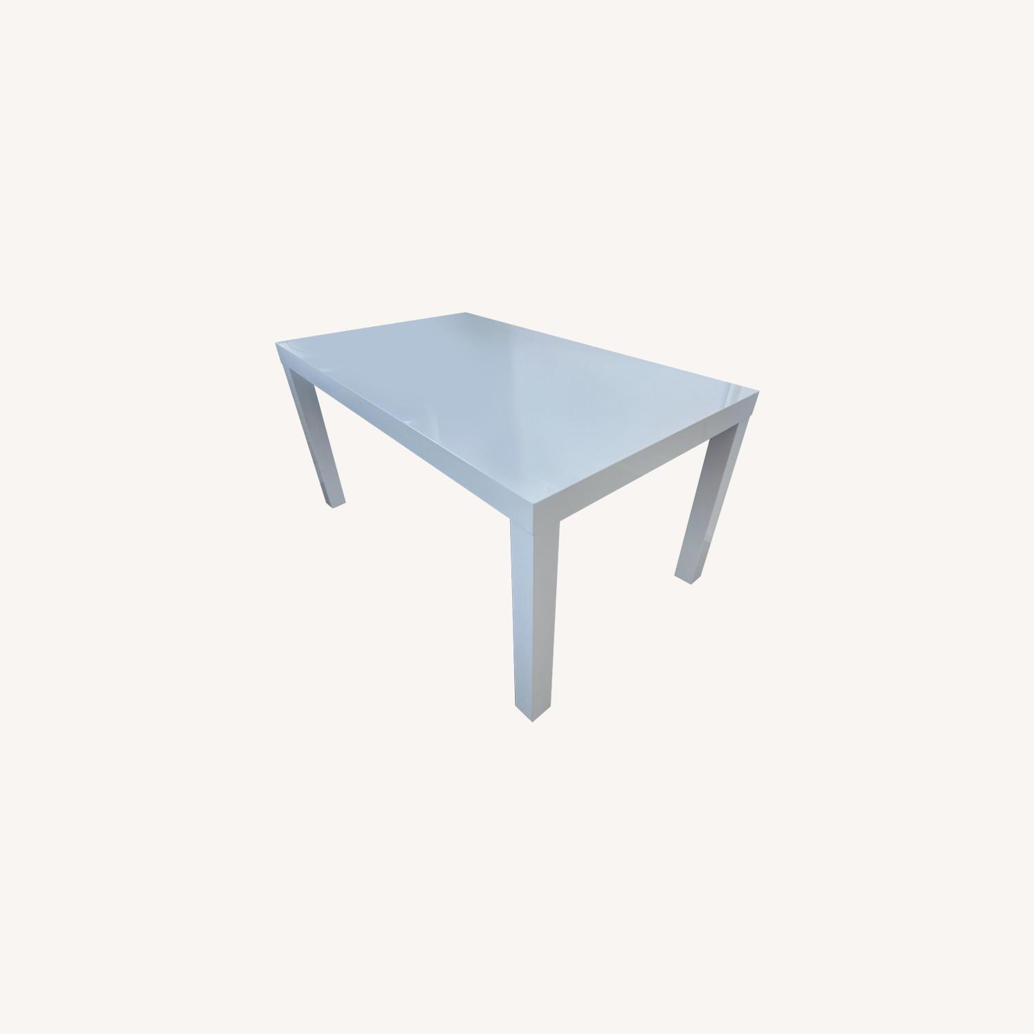 West Elm Parsons White Dining Table - image-0