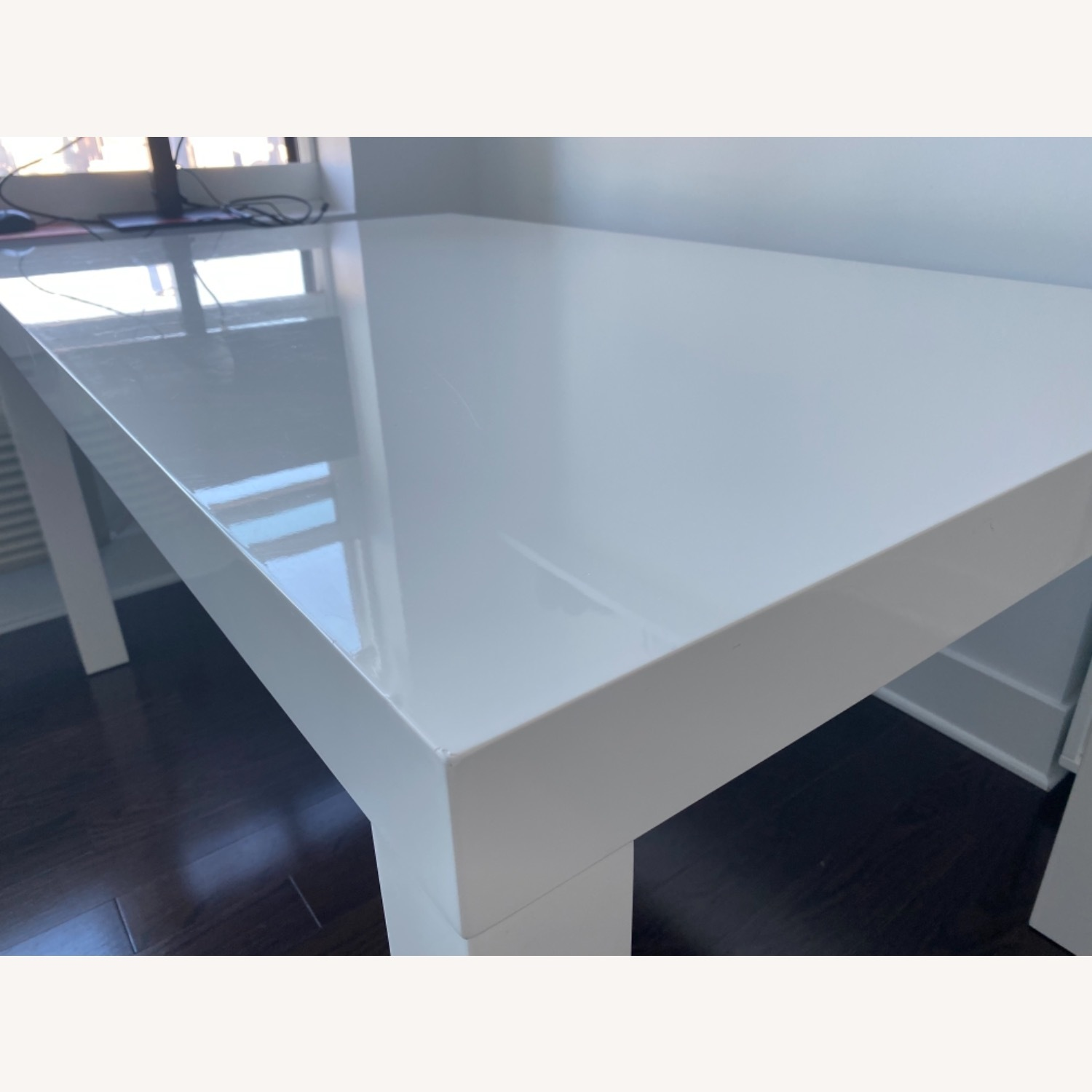 West Elm Parsons White Dining Table - image-4
