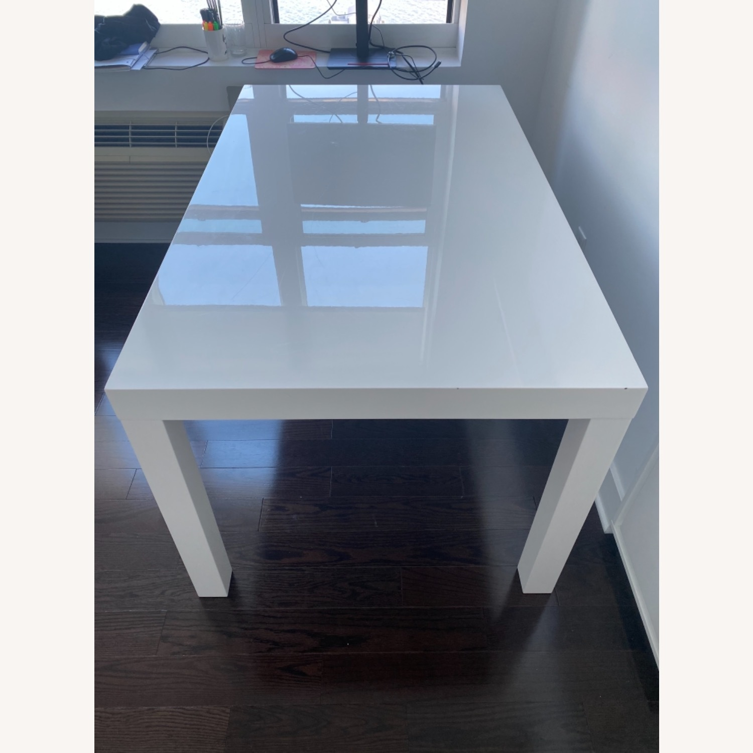 West Elm Parsons White Dining Table - image-5