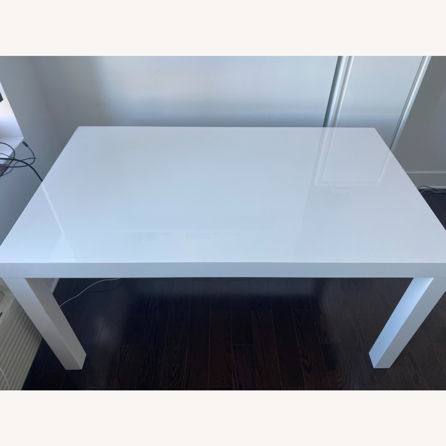 West Elm Parsons White Dining Table - image-2
