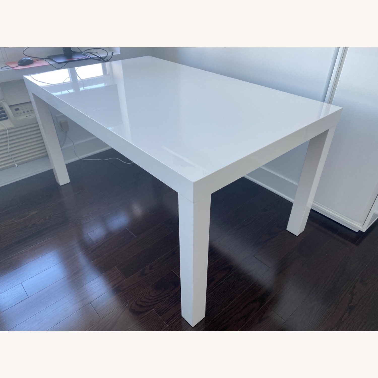 West Elm Parsons White Dining Table - image-1