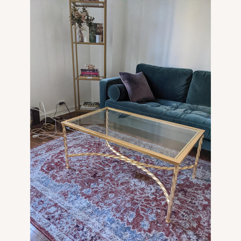 Wayfair Coffee Table Gold Leaf Glass - image-2