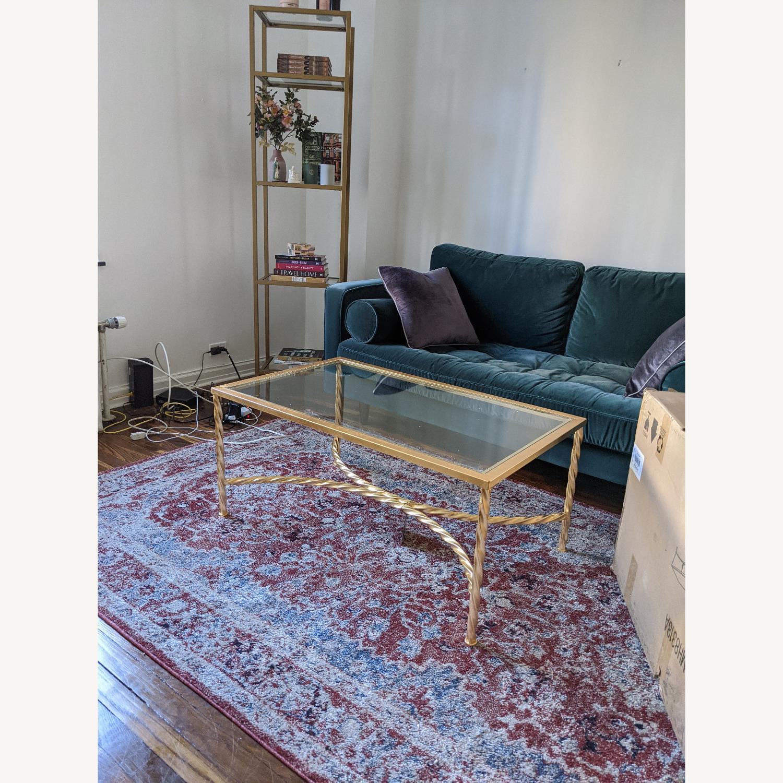 Wayfair Coffee Table Gold Leaf Glass - image-3