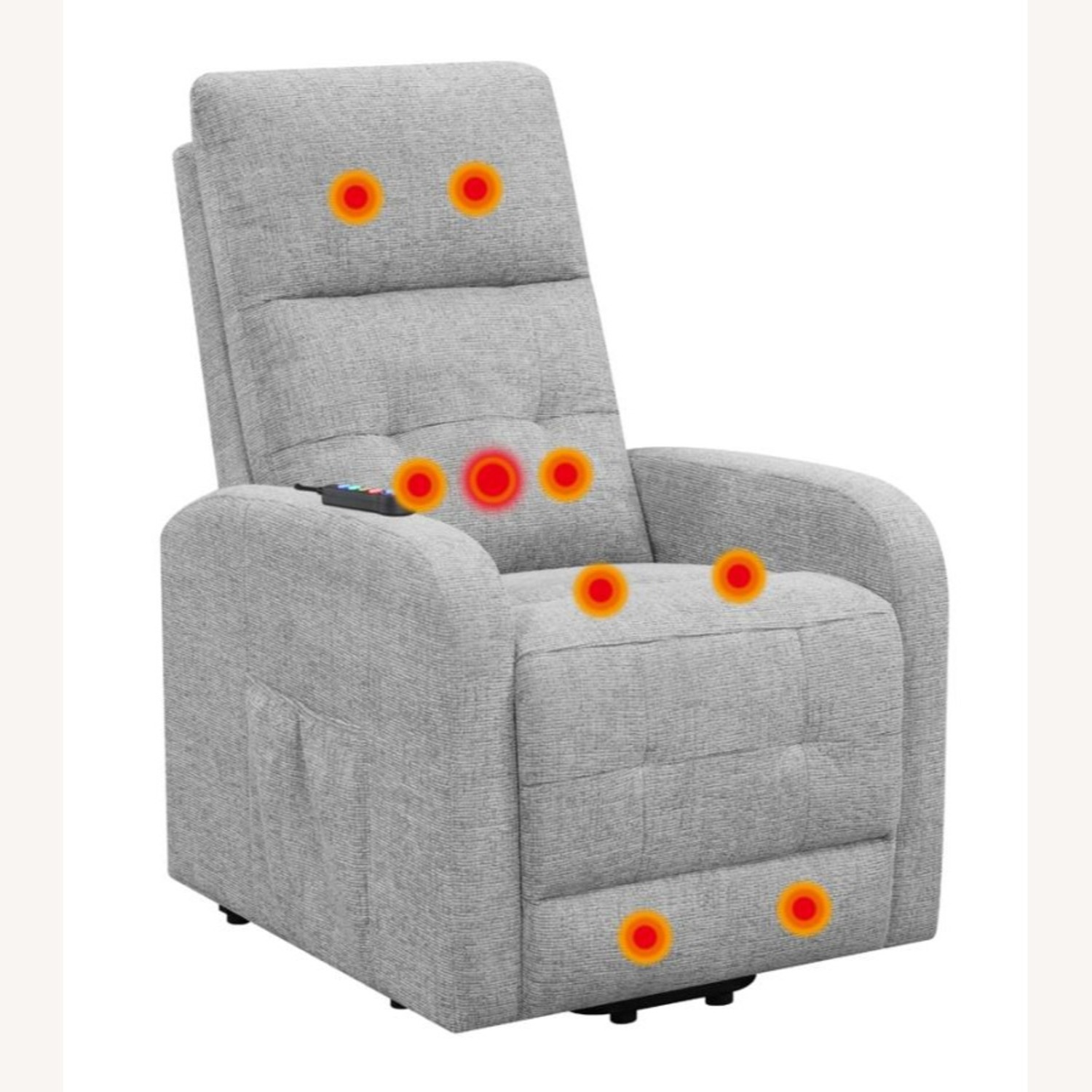 Power Lift Massage Chair In Grey Fabric - image-2