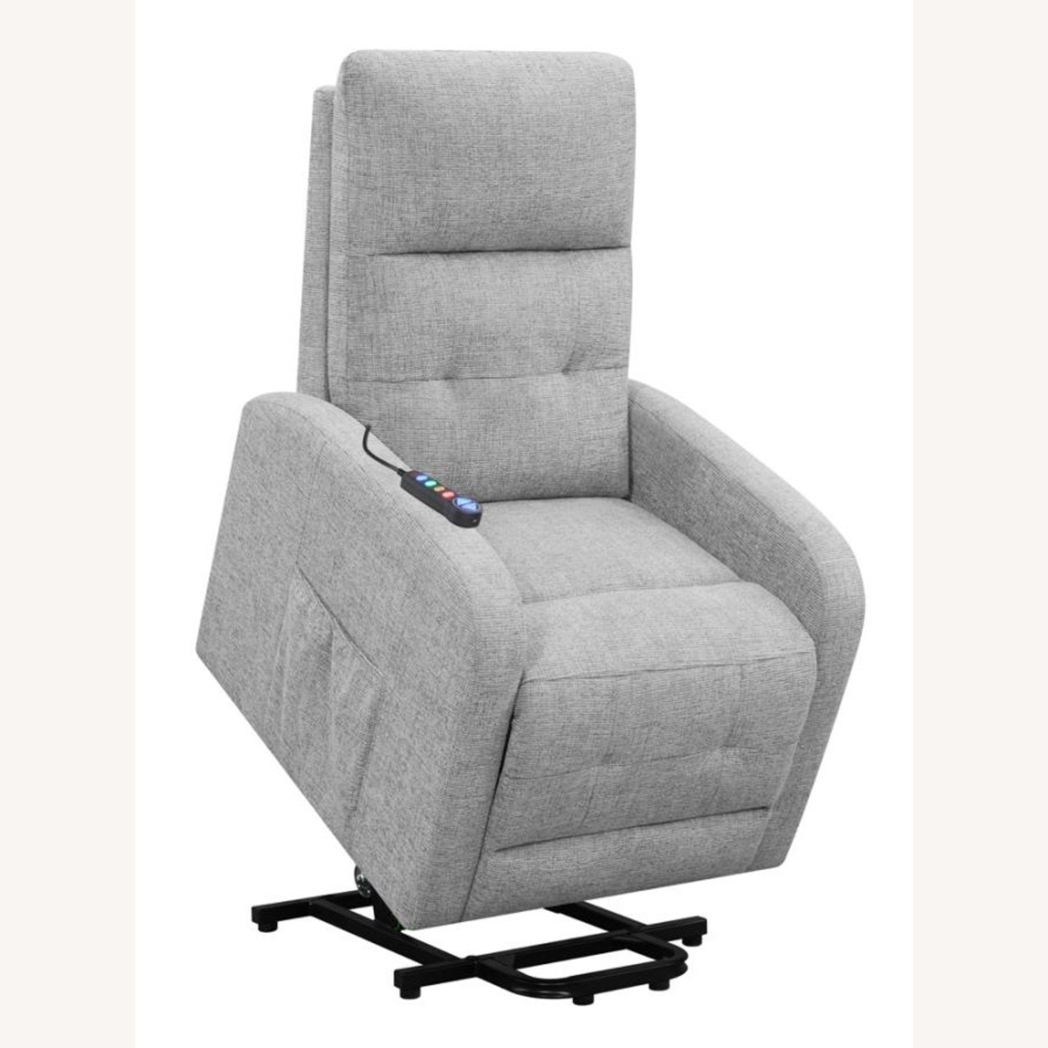 Power Lift Massage Chair In Grey Fabric - image-3