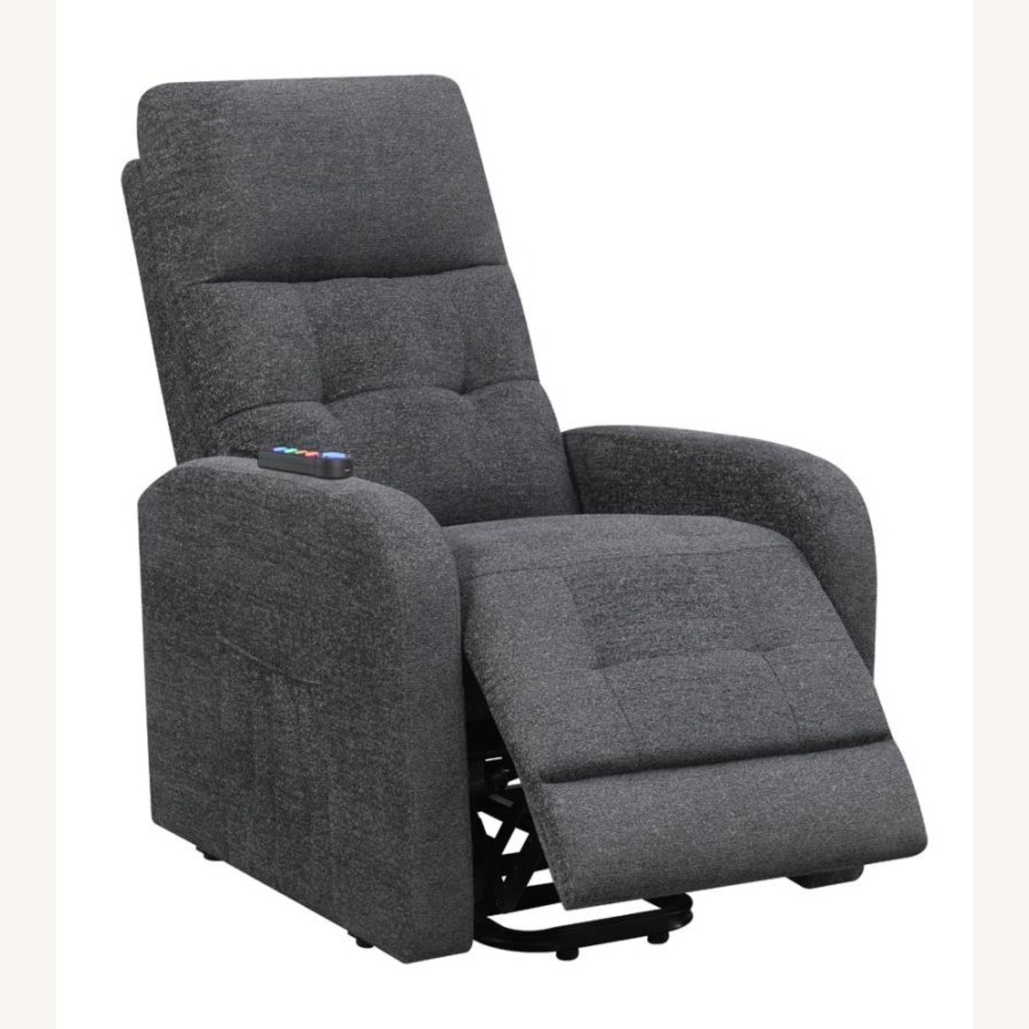 Power Lift Massage Chair In Charcoal Fabric - image-1