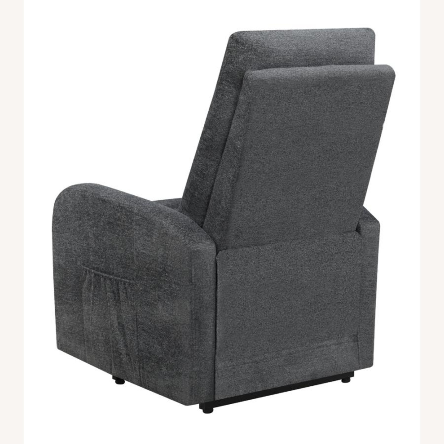 Power Lift Massage Chair In Charcoal Fabric - image-4