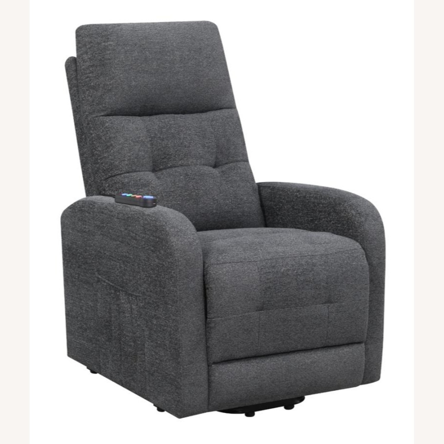 Power Lift Massage Chair In Charcoal Fabric - image-0