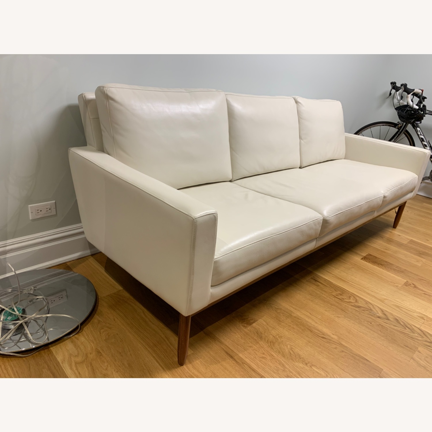 Design Within Reach Leather Raleigh Sofa - image-2