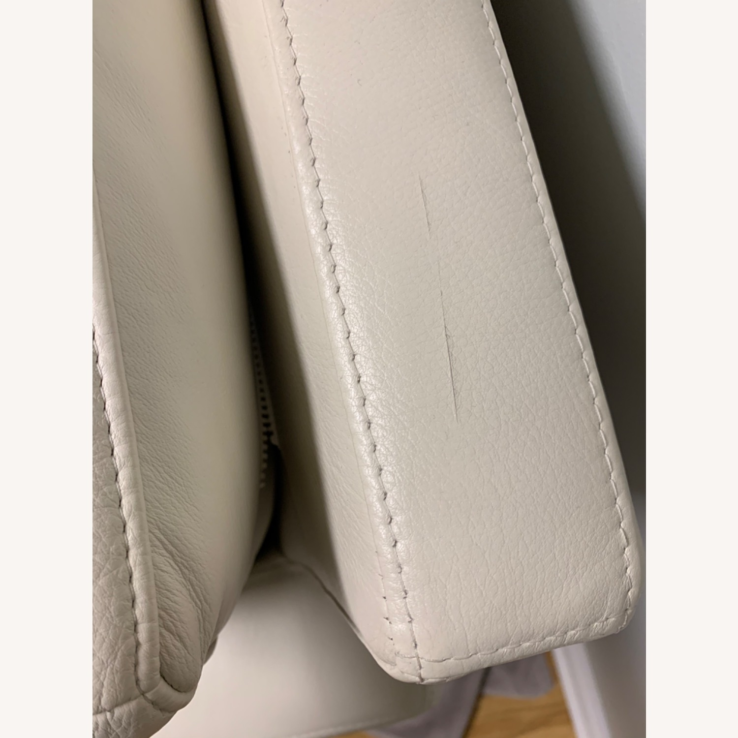 Design Within Reach Leather Raleigh Sofa - image-6