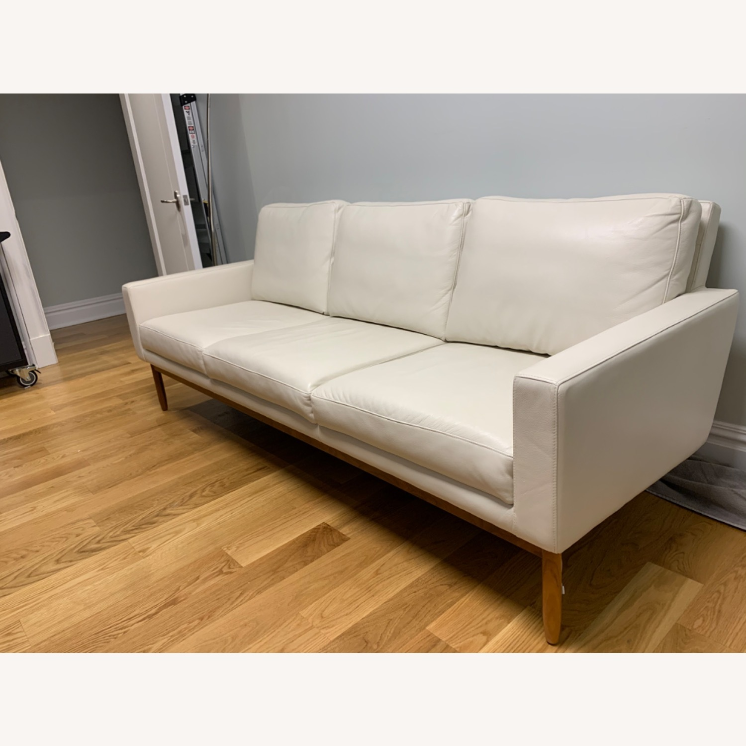 Design Within Reach Leather Raleigh Sofa - image-3