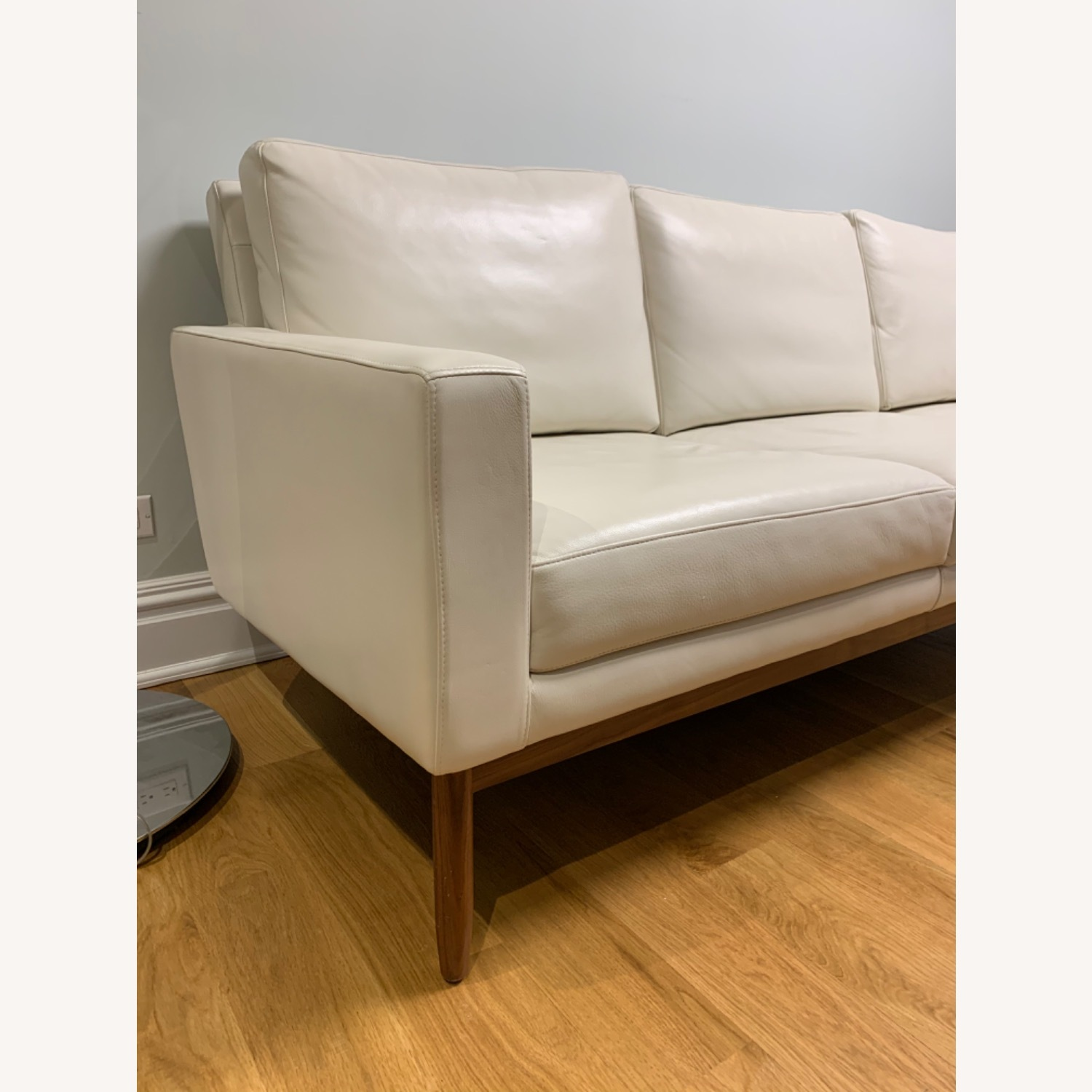 Design Within Reach Leather Raleigh Sofa - image-4