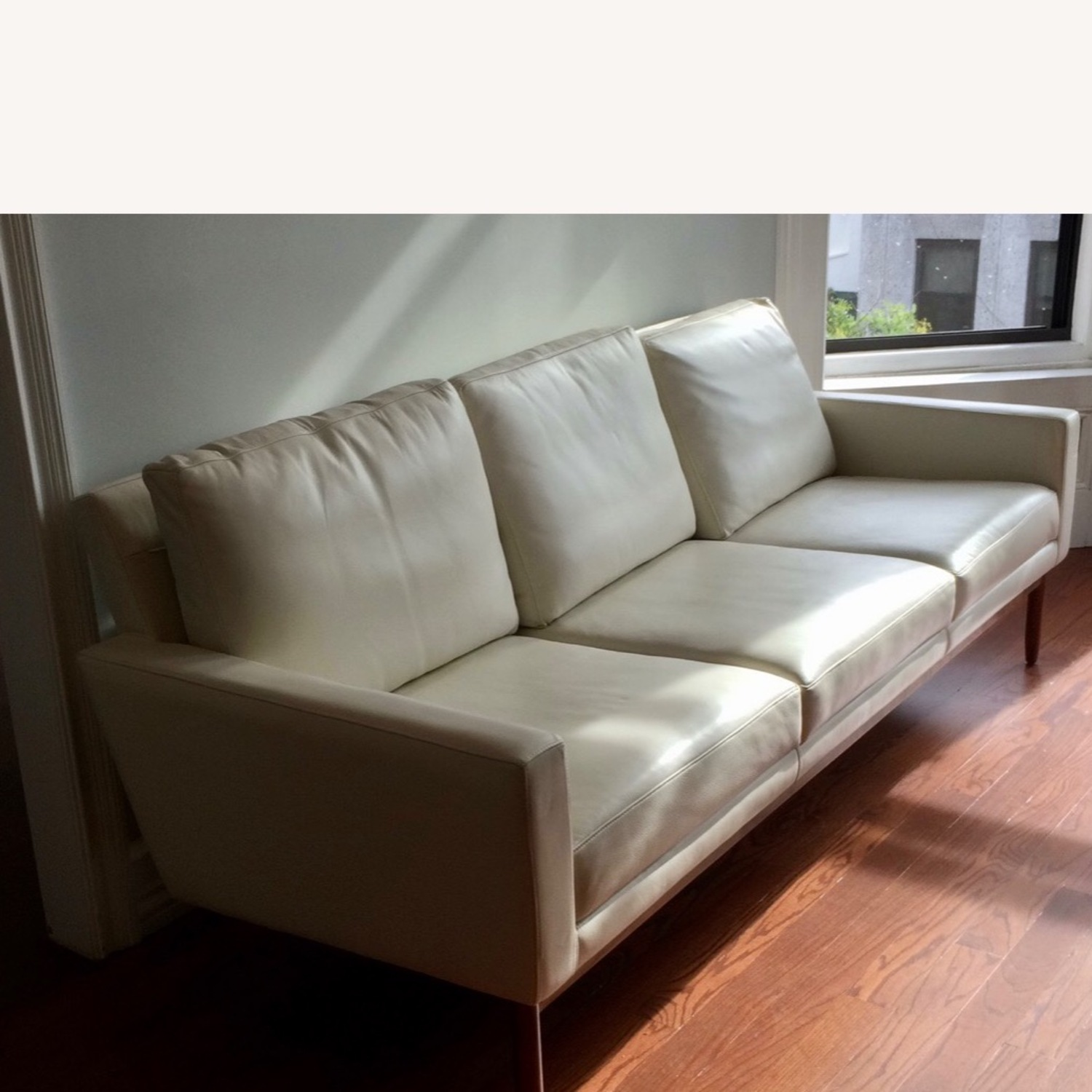 Design Within Reach Leather Raleigh Sofa - image-1