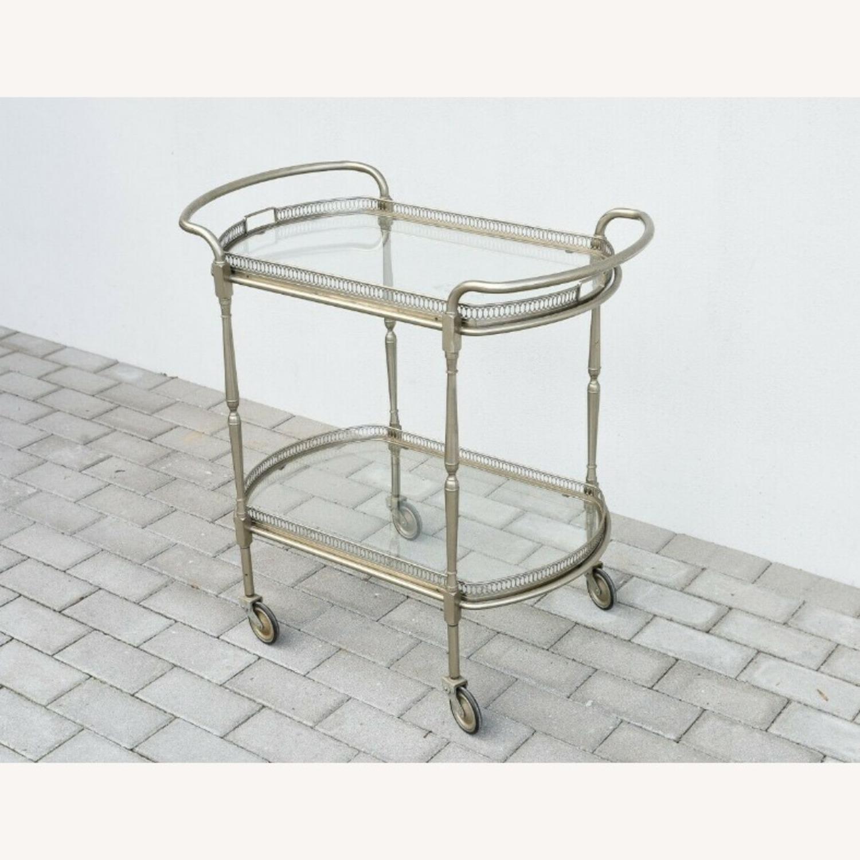 Vintage Silver Bar Cart - image-2