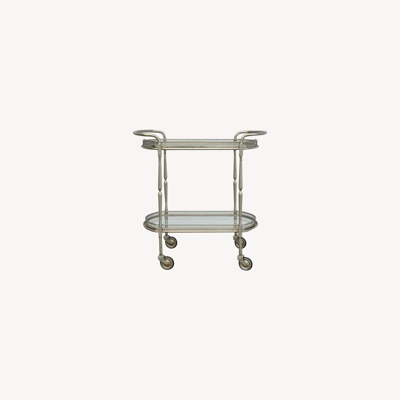Vintage Silver Bar Cart - image-0