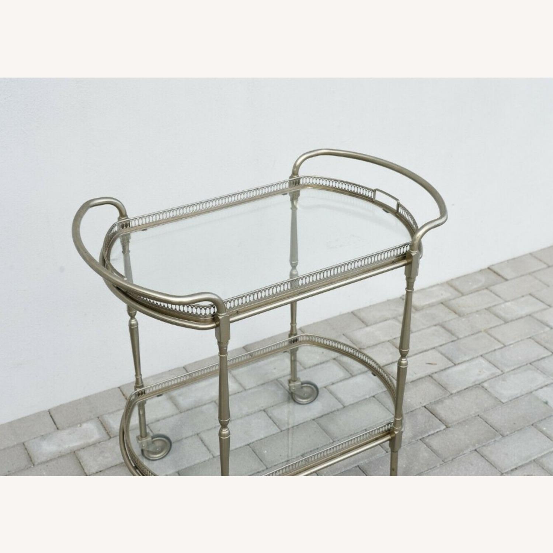 Vintage Silver Bar Cart - image-3
