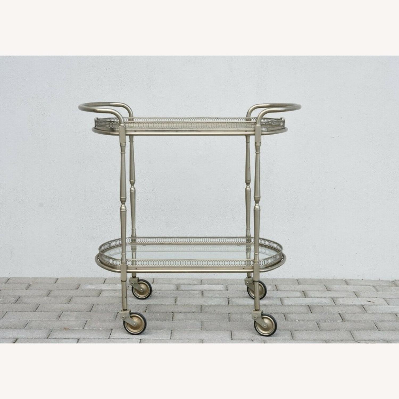Vintage Silver Bar Cart - image-1