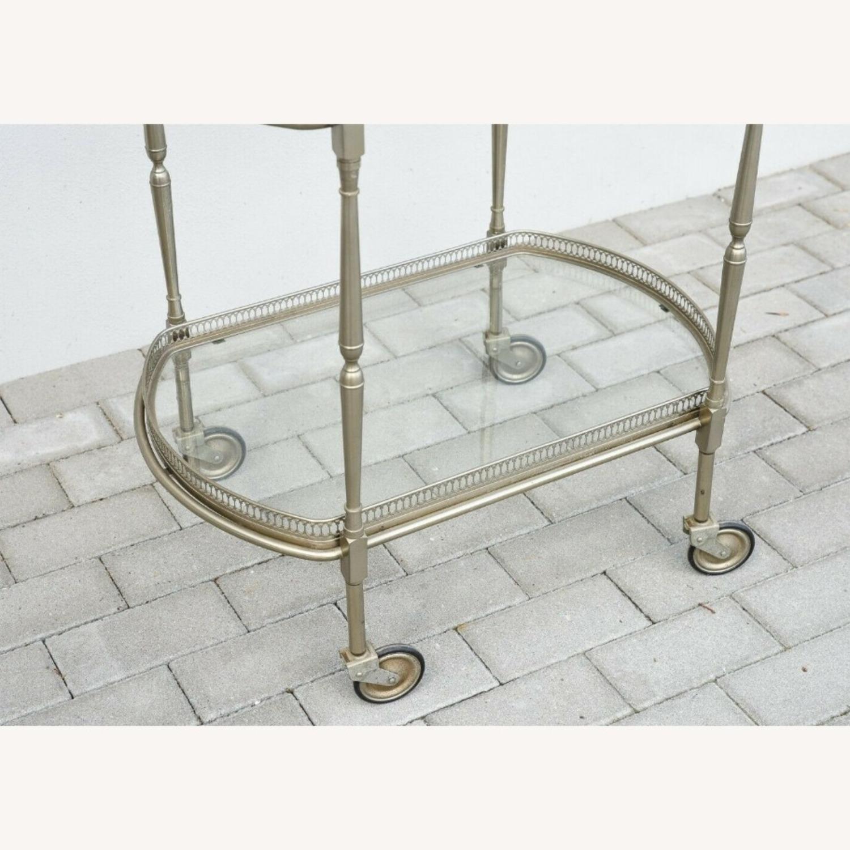 Vintage Silver Bar Cart - image-4