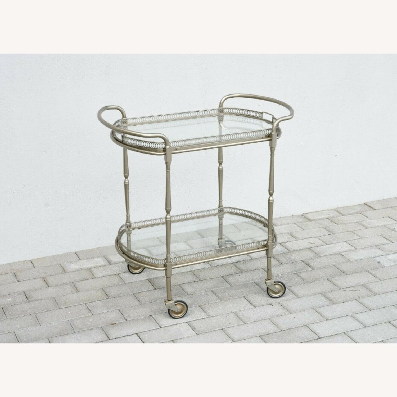 Vintage Silver Bar Cart - image-5
