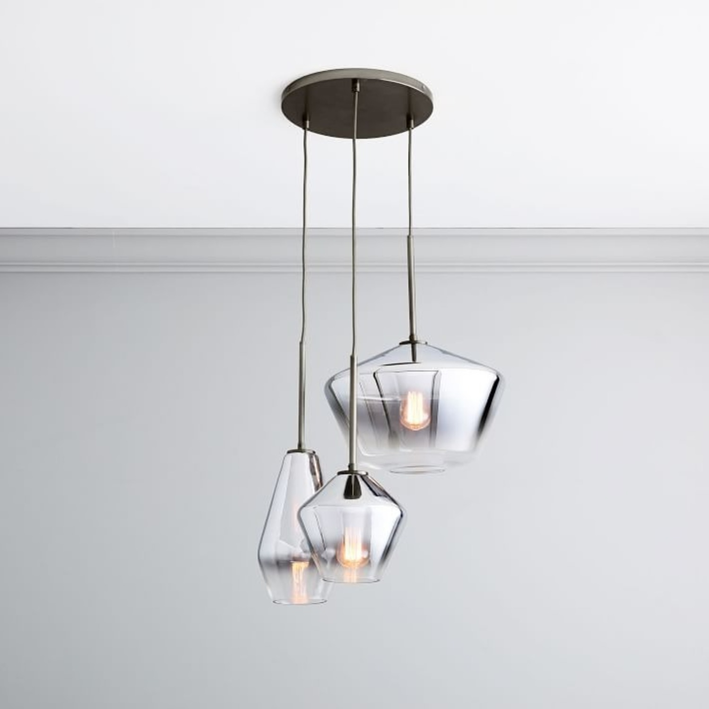 West Elm Sculptural Glass 3-Light Geo Chandelier - image-2