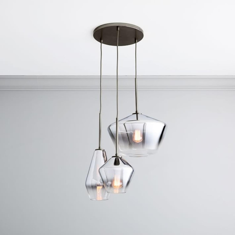 West Elm Sculptural Glass 3-Light Geo Chandelier - image-3
