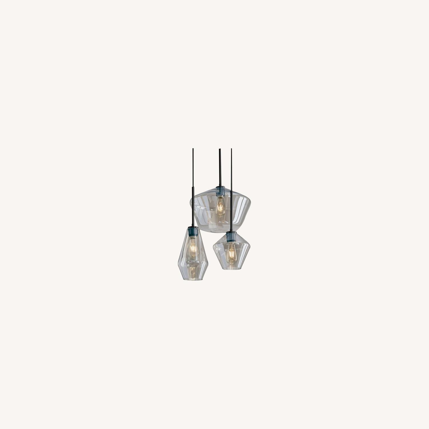West Elm Sculptural Glass 3-Light Geo Chandelier - image-0