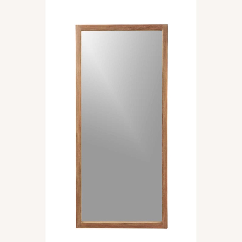 Crate & Barrel Linea Teak Floor Mirror - image-3