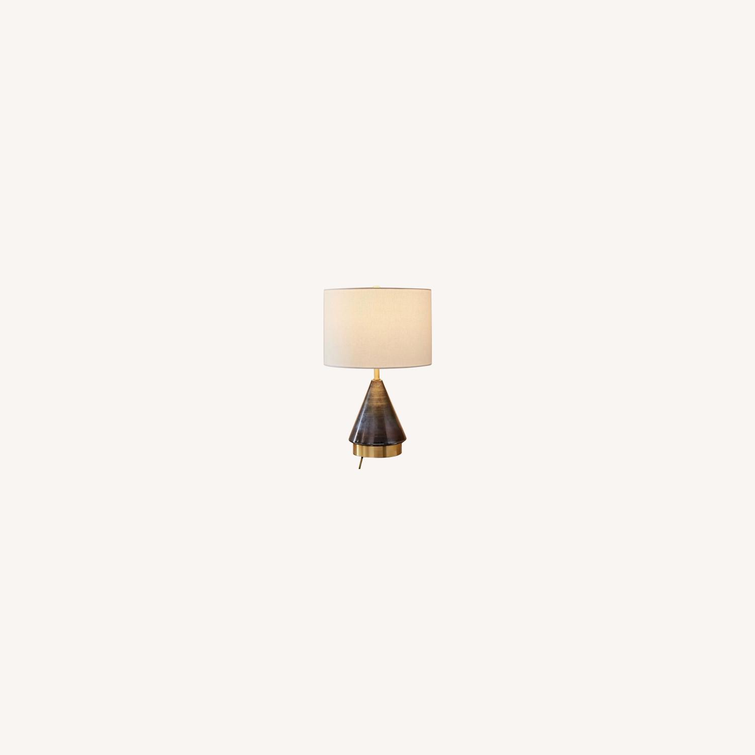 West Elm Metalized Glass USB Table Lamp - image-0